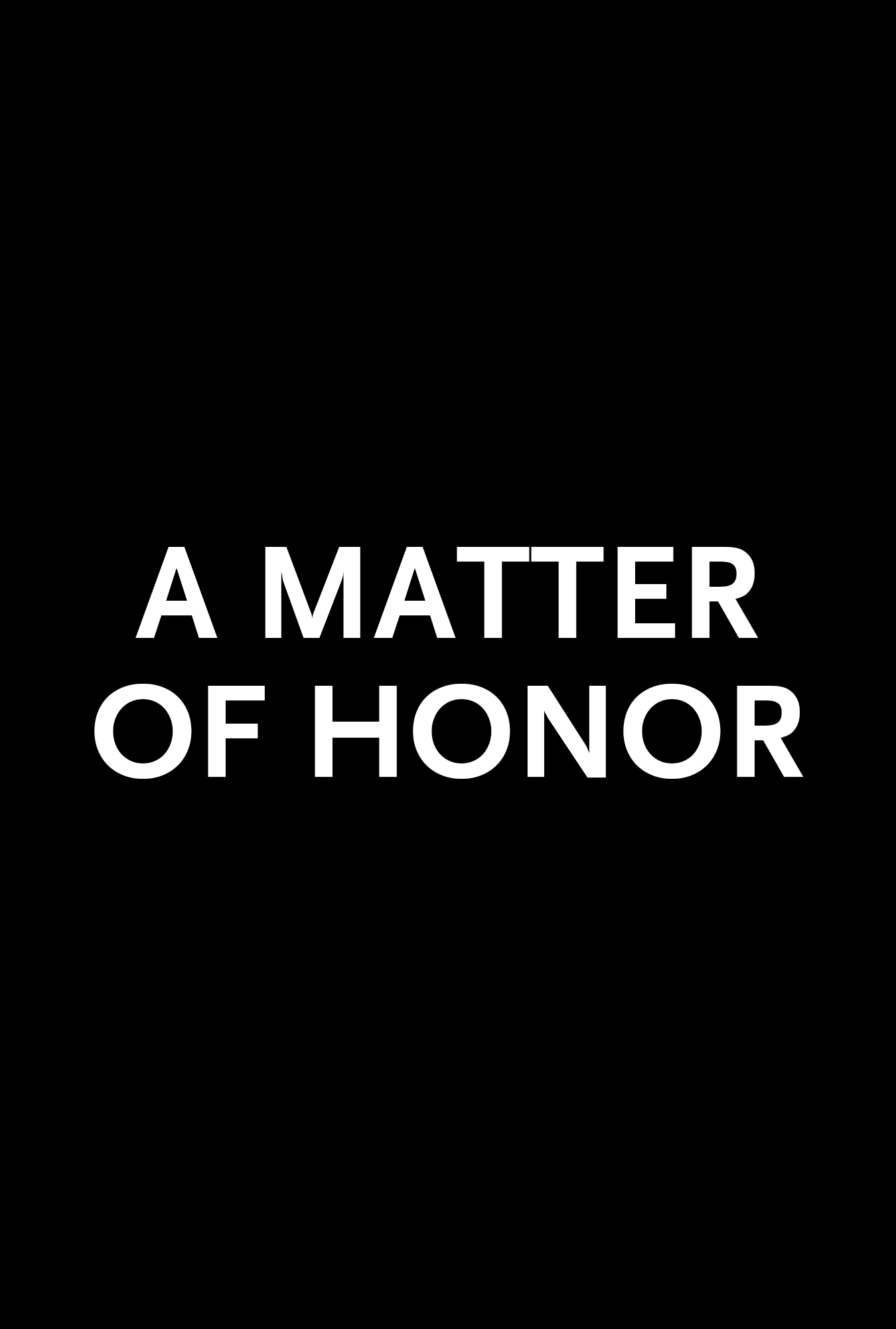A Matter of Honour - Carnaby International Sales & Distribution - UK Film